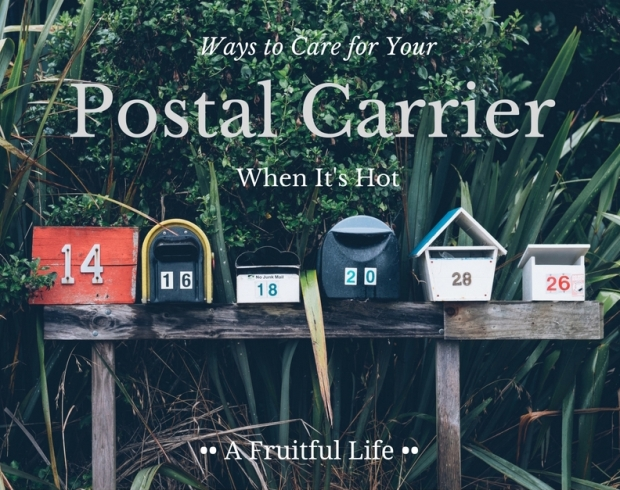 Ways To Care for Your Postal Carrier When It's Hot | A Fruitful Life